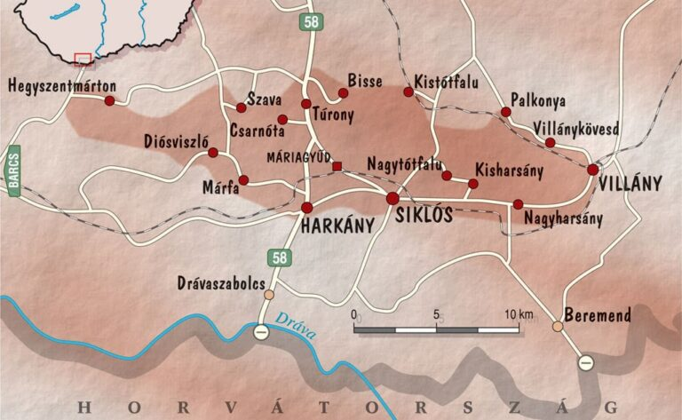 Villányi Borvidék térkép